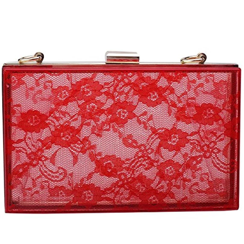 Mogor Women's Lace Acrylic Evening Handbag Party Clutch Crossbody Shoulder Purse