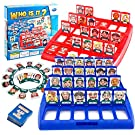 Yourenyuan Guess Who Board Game For Kids Who Is It Funny Guessing Board Game,Suitable For Classic Board Game Funny Family Guess Who Game For Kids Children Toy Gift (Red And Blue)