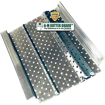 "A-M Aluminum Gutter Guard Sample Pack Includes 6"" and 5"" Width x 6"" Length Samples"