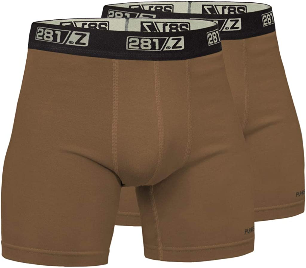 281Z Military Underwear Cotton 6-Inch Boxer Briefs - Tactical Hiking Outdoor - Punisher Combat Line