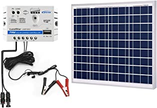 ACOPOWER 50w Watts Solar Charger Kit, 12Volts Polycrystalline Solar Panel & 5A Charge Controller for RV, Boats, Camping; w USB 5V Output as Phone Charger (50w Kit with SAE)