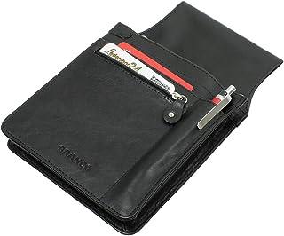 Branco Portefeuille, porte-monnaie de serveur/taxi, en cuir de vachette robuste et moderneDifférentes couleurs