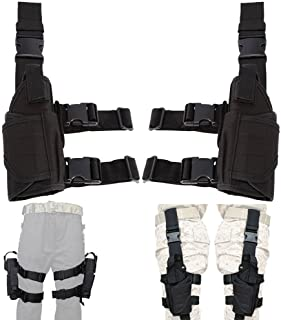 Lux Left Hand & Right Hand Adjustable Universal Waterproof Pistol/Gun Drop Puttee Leg Thigh Holster Pouch Holder