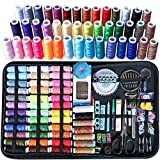 Sewing Kit, 263 Pcs Large Sewing Kit Basic Premium Sewing Tools Supplies, 43 XL Thread Spools, Complete Needle and Thread Kit for Traveller, Adults, Kids, Beginner, Emergency Repairs, DIY and Home
