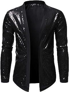 Mens Cardigan Casual Warm Full Open Shiny Winter Coat