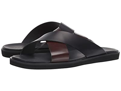 WANT Les Essentiels Kavalo Cross Strap Sandal (Multi Black/Black) Men