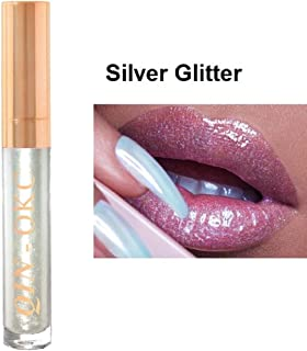 QIN - OKC High Shine Glitter Lip Gloss lipstick 0.25 fl oz (Silver Glitter Gloss) - 64 Fashion Sense Colors