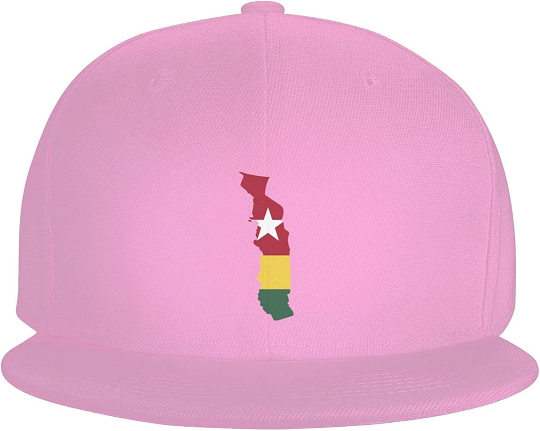 Togo Flag Country of Africa Flat Brim Baseball Hat Cowboy Hat Sun Hat Unisex