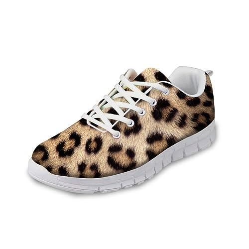 a1851d1be793 FOR U DESIGNS Fashion Leopard Print Men's & Women's Lightweight Mesh  Running Shoes