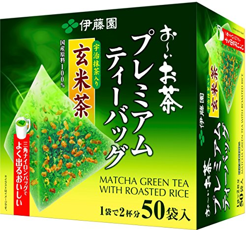 Itoen Premium Tee Bag Genmai Tea 1.8g - 50 peace - Green Tea - (Pack Type)