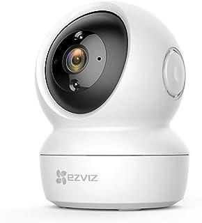 EZVIZ C6N Camara IP WIFI de vigilancia. FHD 1080P. Cámara Domo Interior 360º. PTZ. Vision nocturna deteccion de movimiento audio bidireccional. Compatible con Alexa y Google. Andriod/IOS