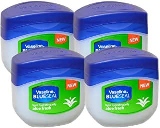 Vaseline BlueSeal Petroleum Light Hydrating Jelly 100m with Aloe Fresh, Pack of 4