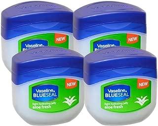 Vaseline BlueSeal Petroleum Light Hydrating Jelly 3.4oz (100ml) with Aloe Fresh (Pack of 4)