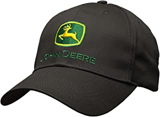 John Deere Memory-Fit One-Size Fitted Hat (Black)