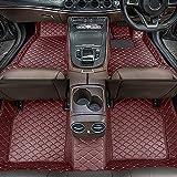 Dinuoda Alfombrillas de coche para BMW serie 7 2004-2008 rodeadas de protección contra todo tipo de clima, antideslizante, impermeable y resistente al desgaste de cuero para pies (café)