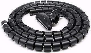 MACLE 収納チューブ ゴチャゴチャなケーブルを整理するチューブ 配線カバー ケーブル収納チューブ ケーブル収納カバー ケーブル整理 ケーブル隠し 配線 隠し コード まとめる 結束バンド 結束スリーブ スパイラル 調節できる スッキリ 御まとめ 家用 事務室 事務所 オフィス用 パソコン/PC/テレビ/ケーブル電線 配線 保護 長さ1.5M 内径20MM (黒い) …