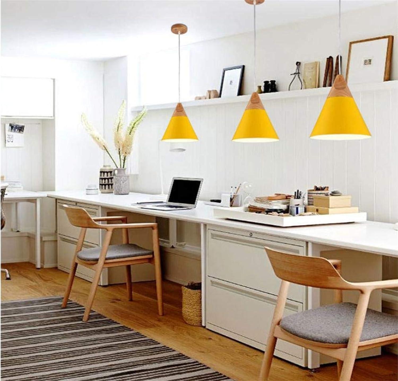 Giow Einfacher einzelner Kronleuchter im kreativen Stil, Schmiedeeisen, Farbe, Schreibtisch, Schlafzimmer, Esszimmer, Lampen und Laternen, Durchmesser 130 mm