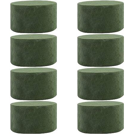 8 blocs de mousse florale ronds,8 pièces de fleurs fraîches et sèches en mousse verte pour arrangement floral 8,9 x 4,9 cm bloc de mousse pour fleurs sèches humides décoration de fête de Noël