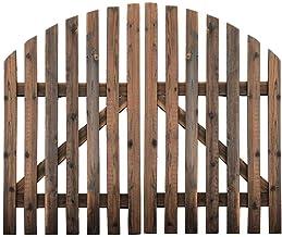 DYFYMXGarden Fence Picket Fence Large Wooden Panel Fence Fencing Wood Garden Border Fence Fence Door Double Door Christmas...