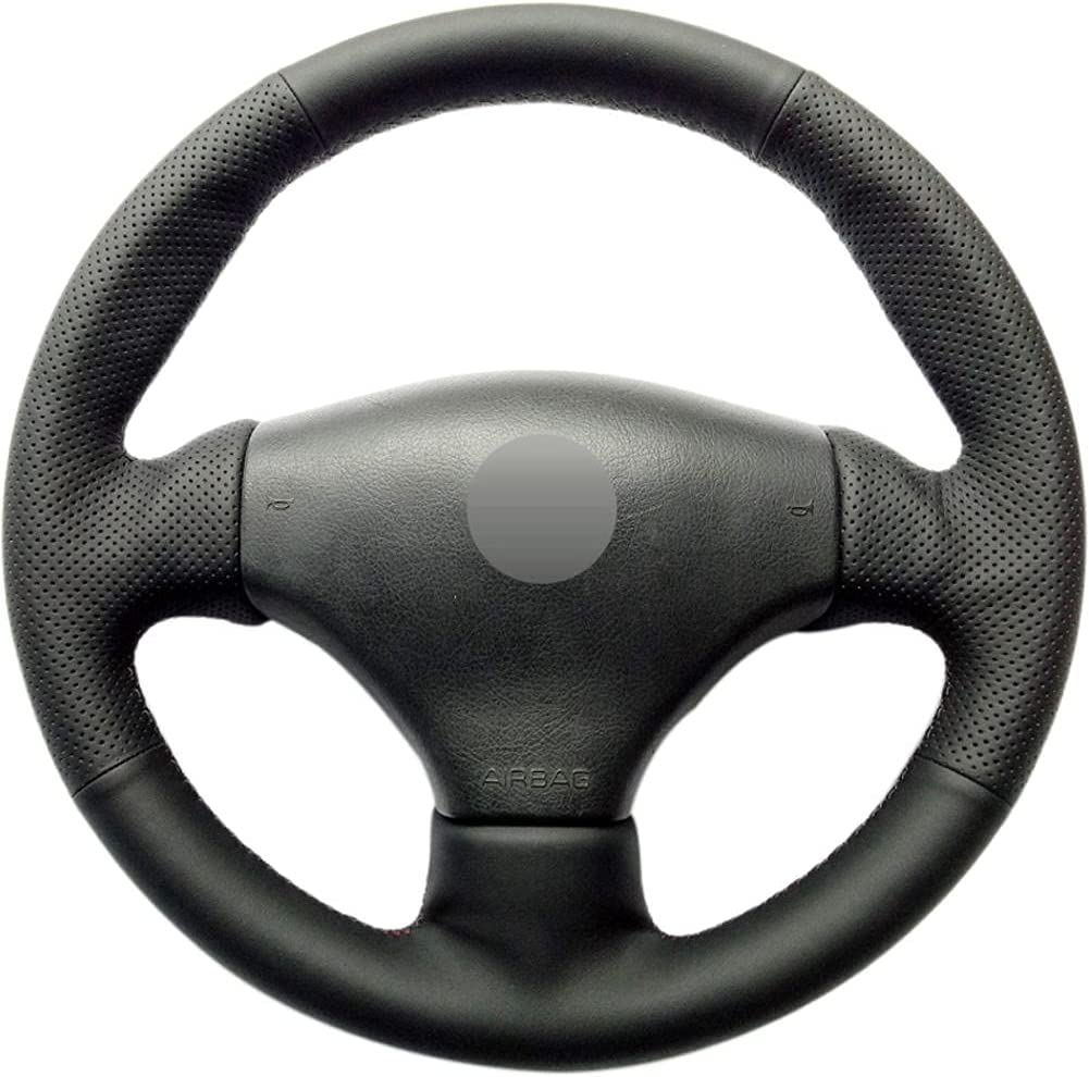 Mesa Mall POMNEFE Black Hand-Stitched Car Steering Wholesale Cover Peu Wheel for Fit