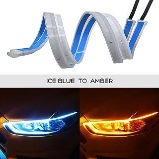 Ceyes DRL LED شريط ضوء فائق السطوع مقاوم للماء 12 فولت مصباح LED داخلي / خارجي مصباح تزيين السيارة، ضوء تشغيل، ضوء إشارة ا...