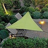 Dreamsbox Toldo Vela de Sombra Impermeable triángulo,Toldo de protección Solar de,protección Rayos UV Impermeable para Patio, Exteriores, Jardín (Verde ejército, 400 x 400 x 400cm)