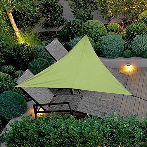 Dreamsbox Toldo Vela de Sombra Impermeable triángulo,Toldo de protección Solar de,protección Rayos UV Impermeable para Patio, Exteriores, Jardín (Verde ejército, 300 x 300 x 300 cm)