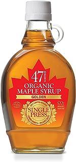 Esdoornsiroop 47 North Canadian SINGLE PRESS Organic Maple Syrup, Grade A, Golden, 250g LIMITED EDITION