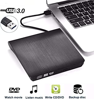 Lecteur CD DVD Externe Graveur,QueenDer USB 3.0 DVD Externe Portable RW/ROM Player Reader..