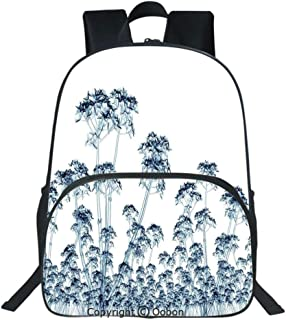 Oobon Kids Toddler School Waterproof 3D Cartoon Backpack, X ray Photo of a Tropical Forest Exotic Trees Plants Nature Negative Art Print, Fits 14 Inch Laptop