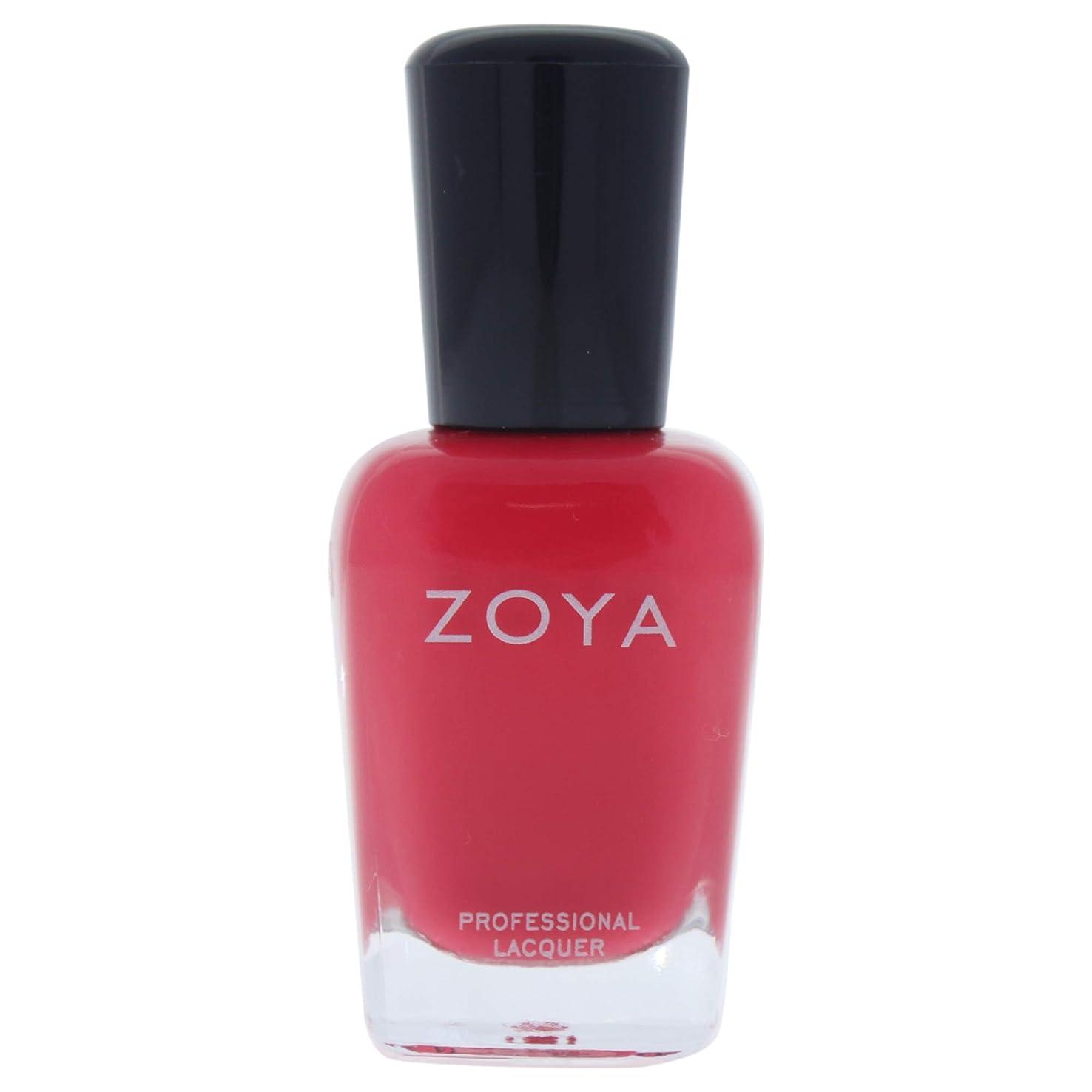生じるうまくいけばドリンクZOYA ゾーヤ ネイルカラーZP443(LC) 15ml コーラルレッド マット 爪にやさしいネイルラッカーマニキュア