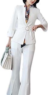 レディーススーツ3点セット パンツ キャミ セレモニースーツ フォーマル 大きいサイズ 入学式  襟あり