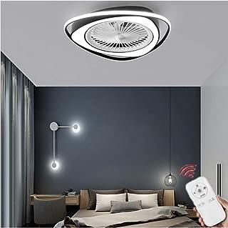 HGW Ventiladores de Techo con Lámpara Regulable Ventilador de Techo Silencioso con Mando a Distancia LED Lámpara de Techo 3 Velocidad del Viento Ajustable 58cm