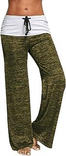 comprar comparacion Mujer Pantalones Anchos Casual Talle Alto Pantalón Yoga Jogging Deportivos de Pierna Largo Cintura Media Pantalón Suave Yo...