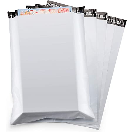 Metronic 50PC Large Shipping Bags Poly Mailers 19x24 Envelopes Mailers with Self Adhesive Waterproof and Tear-Proof Postal Bags in White