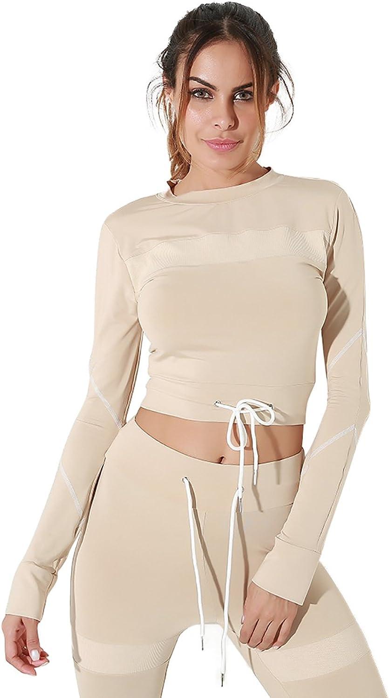 Gagaopt Women Tracksuit Sweatsuit Sport Pant Gym Jogging Outfit 2 Piece Set Khaki
