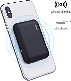 iWALK Qi Wireless Portable Charger Power Bank 3000mah by Sticking to Phone, Compatible with iPhone Xs, XR, X, 8, 8 Plus, Samsung Galaxy S10, S10+, S9, S9+, S8, S8+, Note 9, Nexus, HTC and More, Black
