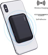 iWALK Qi Wireless Portable Charger Power Bank 3000mah by Sticking to Phone, Compatible with iPhone Xs, XR, X,11, 8,Plus, Samsung Galaxy S10, S10+, S9, S9+, S8, S8+, Note 9, Nexus, HTC and More, Black
