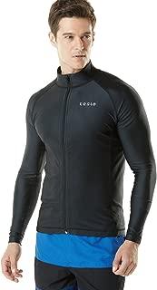 Men's UPF 50+ Zip Swim Front Long Sleeve Top Rashguard