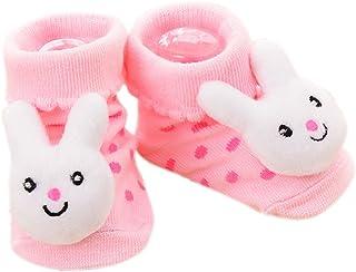 WE-WHLL, WE-WHLL Calcetines de bebé Antideslizante Algodón Recién Nacido Infantil de Dibujos Animados Zapatillas de Animales Botas Unisex-18