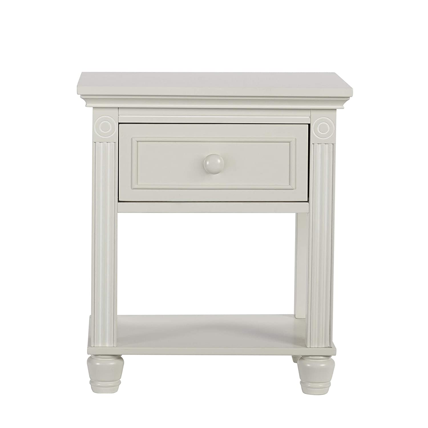 Baby Cache Montana Collection Natural Hardwood End Table Combo With Lasting Quality Design & Kilndried Hand Crafted Construction, Glazed White, Nightstand, 31 Pounds