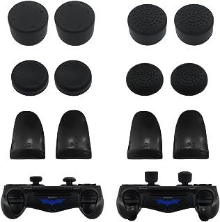 PS4 コントローラー用 八個 アシストキャップ & 四個 トリガーボタン FPS ゲーム 適合