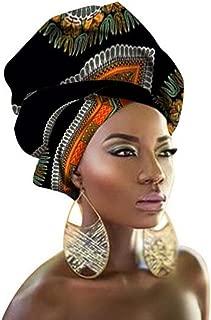 African Traditional Wax Print Head wrap Headwrap Scarf Tie, Multi-Color Urban Ladies Hair Accessory Headband Head Scarf