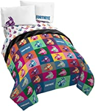 Jay Franco Fortnite Llama Warhol 4 Piece Twin Bed Set - Includes Reversible Comforter & Sheet Set Bedding - Super Soft Fad...