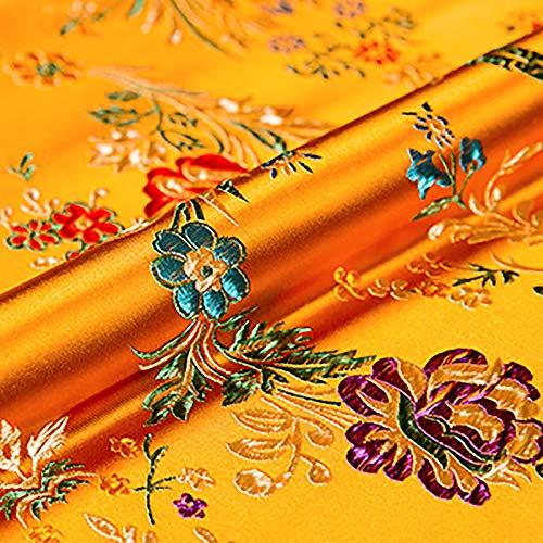 MUYUNXI Tela De Raso Forro De Tela para Vestidos De Novias Fundas Artesanías Vestidos Blusas Ropa Interior 75 Cm De Ancho Vendido por 2 Metro(Color:Naranja)