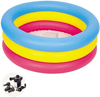 Inflatable Bathtub Children's Swimming Pool Home Inflatable Round Paddling Pool Family Marine Ball Pool Toy Pool (Color : ...