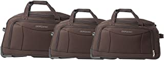 Giordano Luggage Trolley Bags Set of 3 Pcs, Brown, 25-411