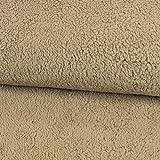 Stoffe Werning Baumwoll-Teddystoff Uni Taupe Plüschstoff