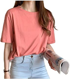 Zimaes Womens Short Sleeve Loose Casual T-Shirt Summer Blouse Top