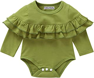 Calsunbaby Infant Toddler Baby Girl Top Basic Plain Ruffle T-Shirt Blouse Casual Clothes